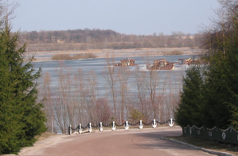Czarnobyl - widok na rzekę, fot. własna