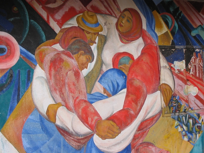Prypeć - fresk w jednym z budynków, fot. własna