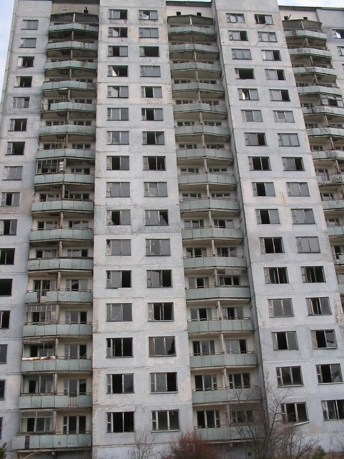 Prypeć - jeden z najwyższych budynków, fot. własna