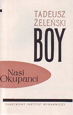 """Tadeusz Boy-Żeleński - """"Nasi okupanci"""" (okładka)"""