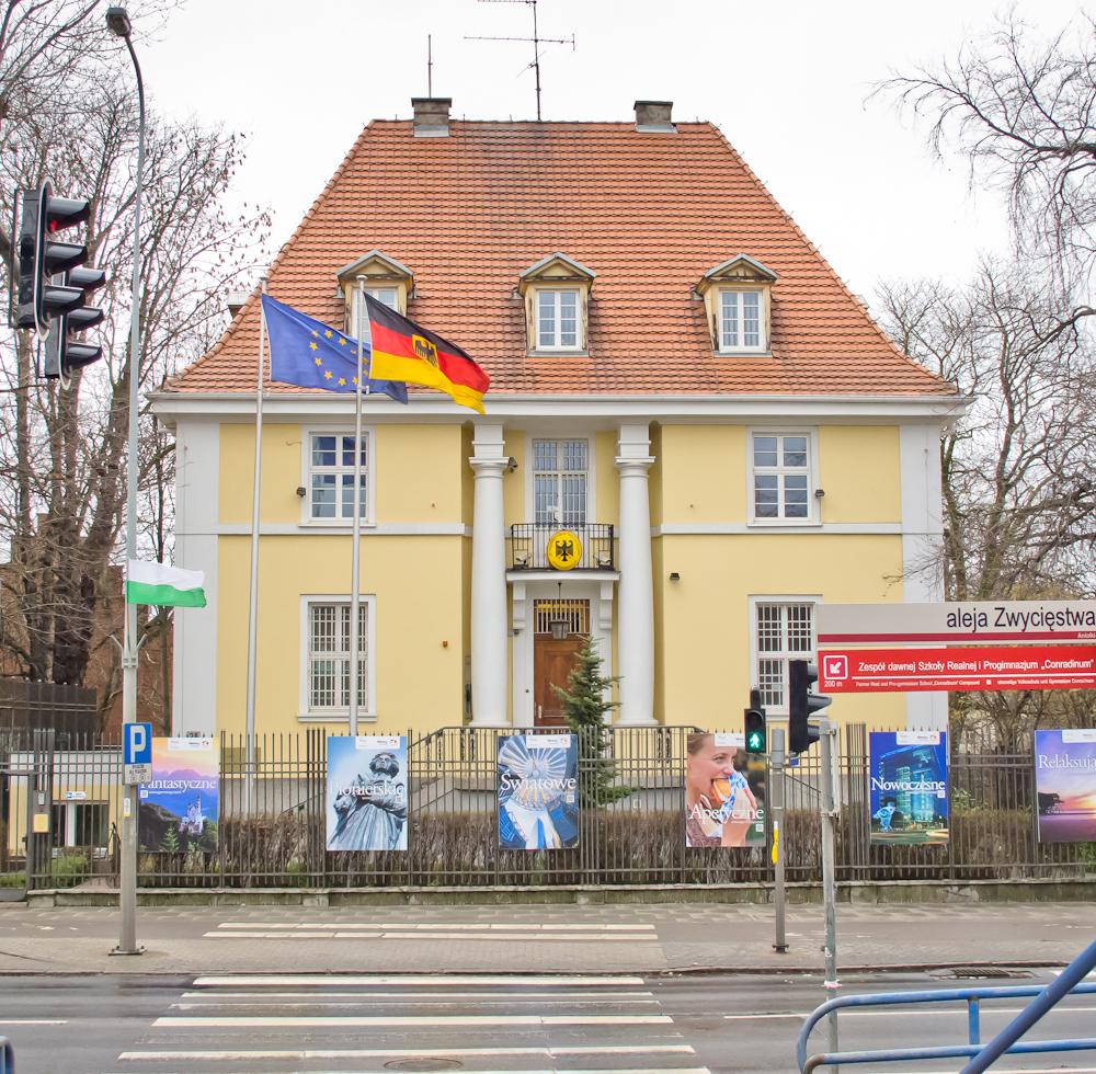 Ambasada Niemiec, przed II WŚ budynek należał do Politechniki Gdańskiej