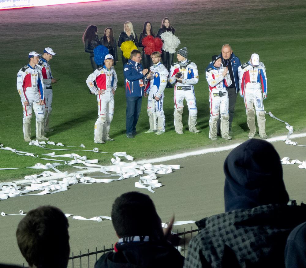 Po biegach zawodnicy wyszli podziękować za doping
