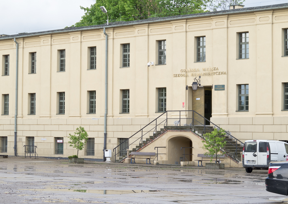 Spacer zakończył się wykładem w budynku Gdańskiej Wyższej Szkoły Humanistycznej