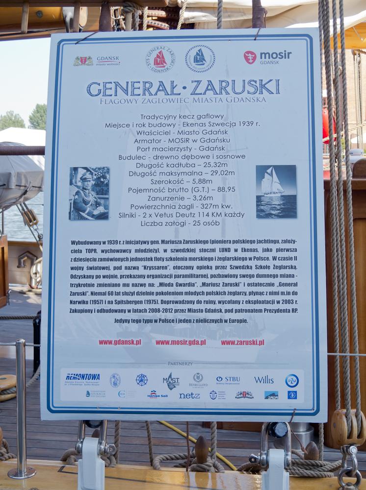 Generał Zaruski to flagowy żaglowiec miasta Gdańska