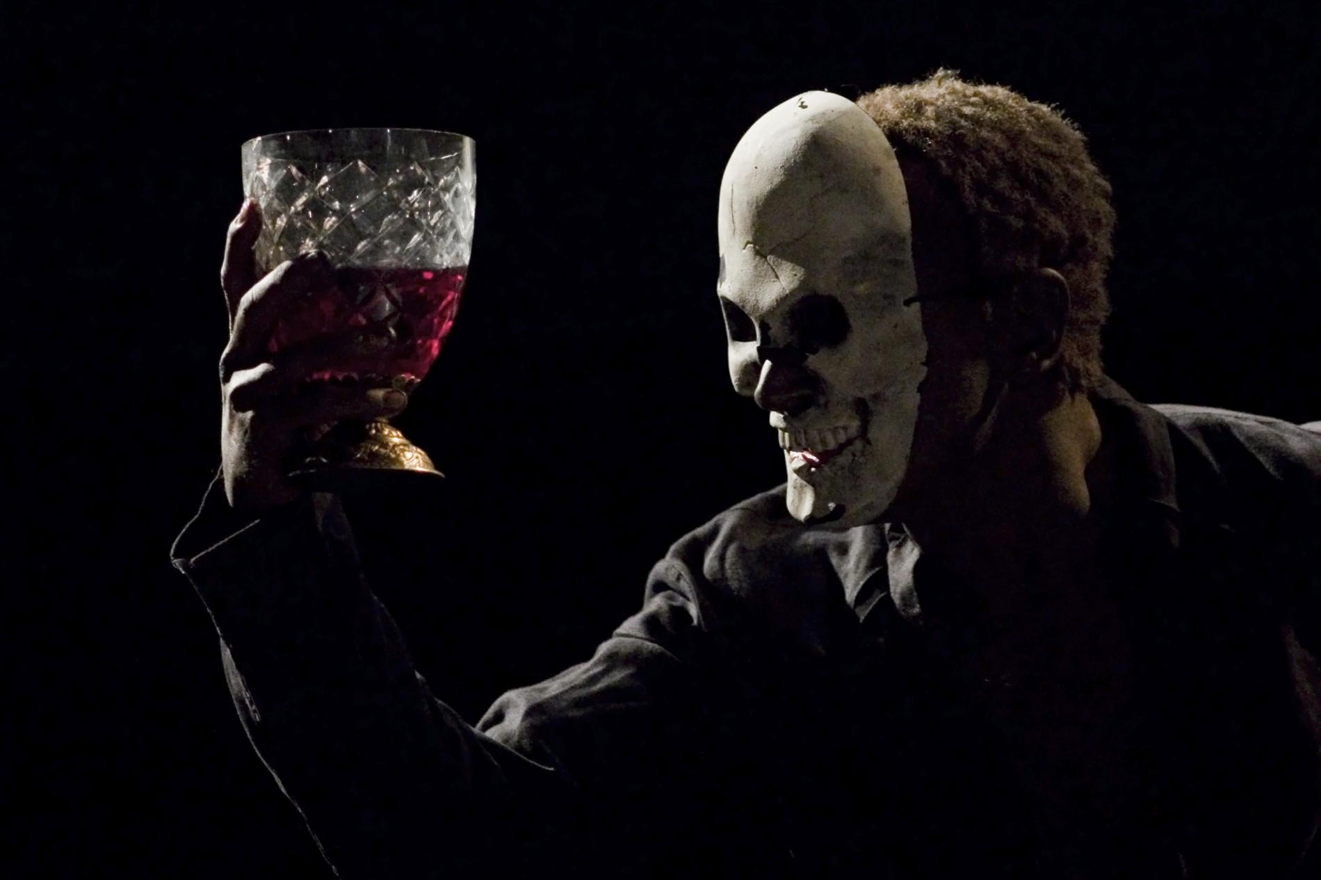 Czarna maska - zdjęcie z planu